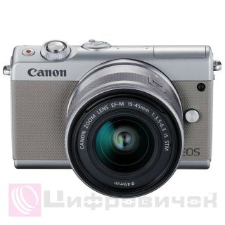 Canon EOS M100 Kit (15-45mm IS STM) Grey