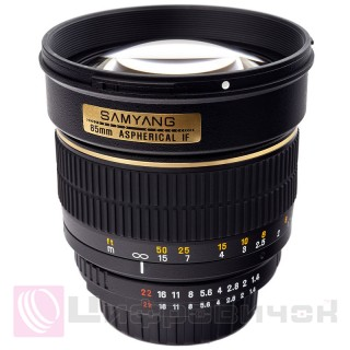 Samyang 85mm f 1.4 IF Aspherical Nikon chip