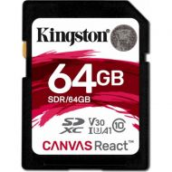 Kingston 64GB SDXC C10 UHS-I U3 R100/W80MB/s