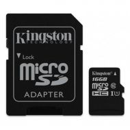 Kingston 16 GB microSDHC Class 10 UHS-I Canvas Select (SD Adapter)