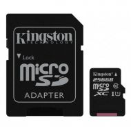 Kingston 256 GB microSDXC Class 10 UHS-I Canvas Select (SD Adapter)