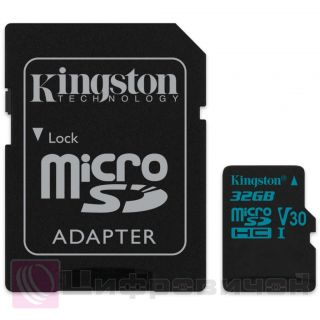 Kingston 32 GB microSDHC class 10 UHS-I U3 Canvas Go (SD Adapter)
