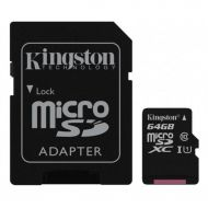 Kingston 64 GB microSDXC Class 10 UHS-I Canvas Select (SD Adapter)