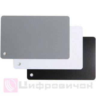 Комплект карт Grey Card 85x55mm (black, white, grey)