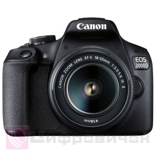 Canon EOS 2000D Kit (18-55 IS II) + сумка + SD 16GB