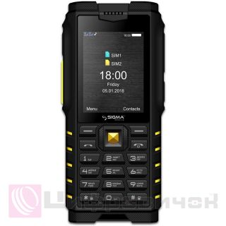 Sigma mobile X-treme DZ68 Black-Yellow