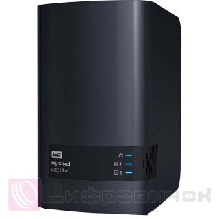 "Western Digital My Cloud EX2 Ultra 2x3.5"", 4Tb (WDBVBZ0040JCH-EESN) Black"