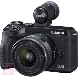 Canon EOS M6 Mark II Kit (15-45 IS STM) + EVF-DC2 Black