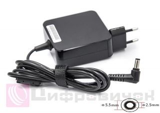 Блок живлення PowerPlant ACER, ASUS 220V, 19V 65W 3.42A (5.5*2.5) wall mount