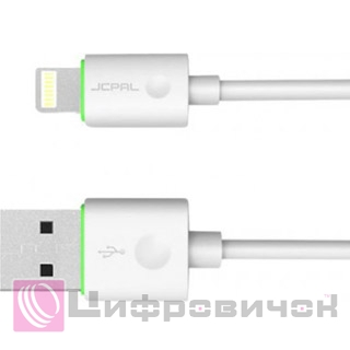 Кабель JCPAL USB 2.0 - Lightning 1m White