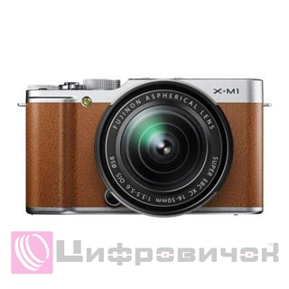 Fujifilm FinePix X-M1 Kit 16-50mm Brown