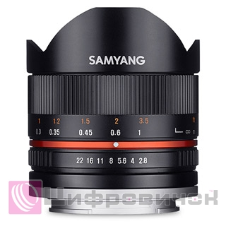 Samyang 8/2.8 Fisheye APS-C Sony E-mount Black