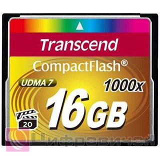 Transcend 16 Gb 1000x CompactFlash Card