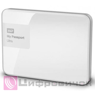 "Western Digital My Passport Ultra 2.5"", 1Tb (WDBGPU0010BWT) White"
