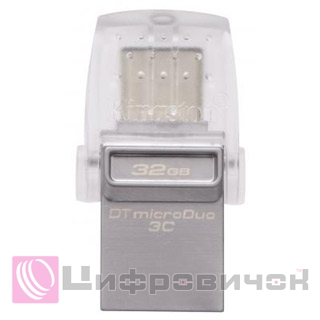 Kingston DataTraveler microDuo 3C 32GB (DTDUO3C/32GB) White