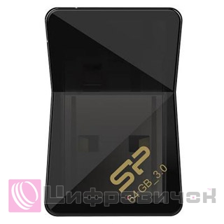 Silicon Power Jewel J08 64GB Black (SP064GBUF3J08V1K)