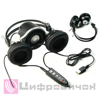 A4-tech HSВ-500U Headset and Speaker Set USB Black-Grey