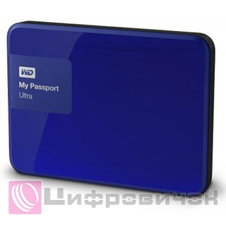 "Western Digital My Passport Ultra 2.5"", 2Tb (WDBBKD0020BBL) Blue"