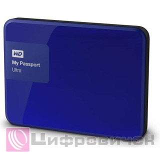 "Western Digital My Passport Ultra 2.5"", 500Gb (WDBWWM5000ABL) Blue"