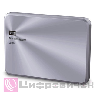 "Western Digital My Passport Ultra Metal 2.5"", 3Tb (WDBEZW0030BSL) Silver"