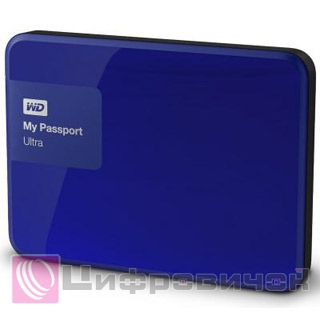 "Western Digital My Passport Ultra 2.5"", 3Tb (WDBBKD0030BBL) Nooble Blue"
