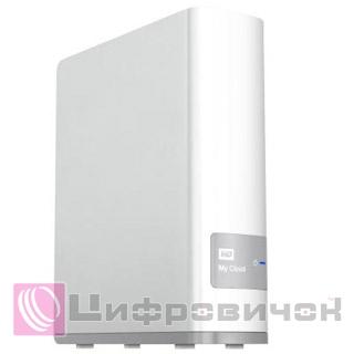 "Western Digital My Cloud 3.5"", 4Tb (WDBCTL0040HWT) LAN White"