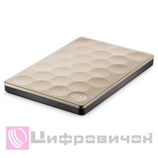 "Seagate Backup Plus Ultra Slim 2.5"", 1Tb (STEH1000201) Gold"