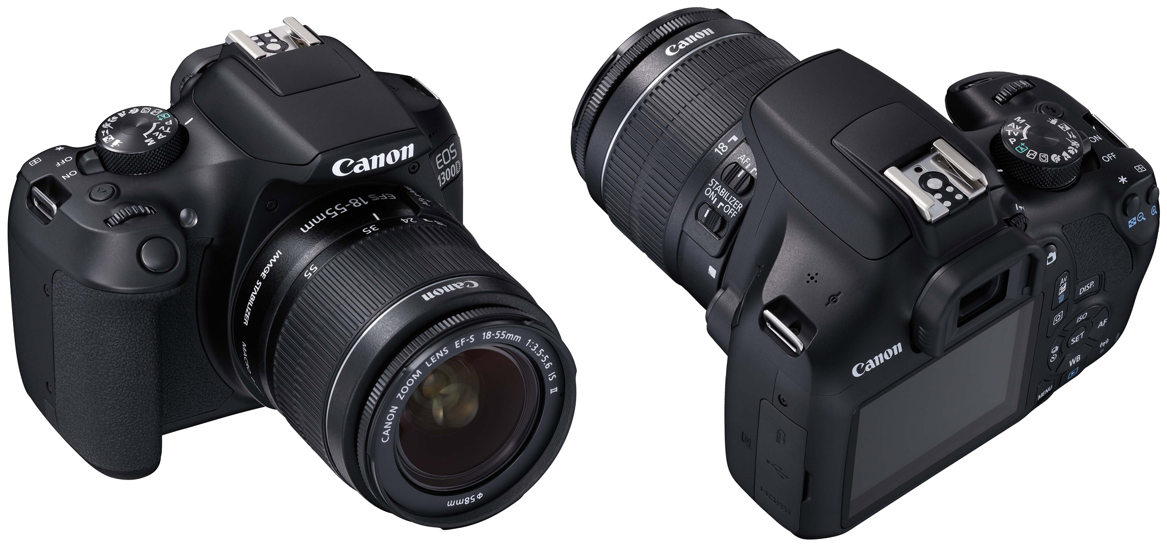 Canon EOS 1300D back front Цифровичок
