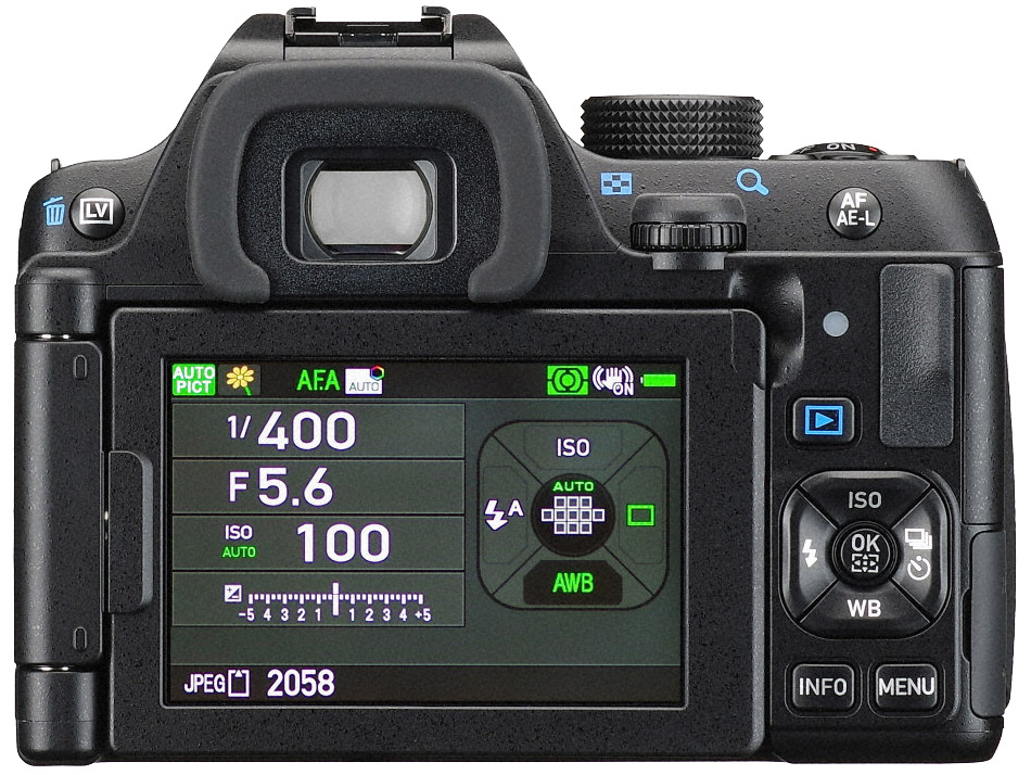 Pentax K-70 Display