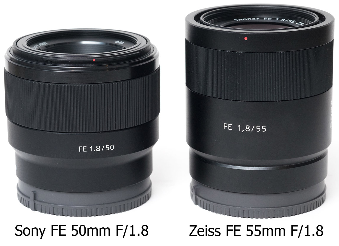 Sony FE 50mm Zeiss 55mm cyfrovychok