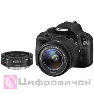 Canon EOS 100D Kit (18-55mm IS STM + 40mm STM)