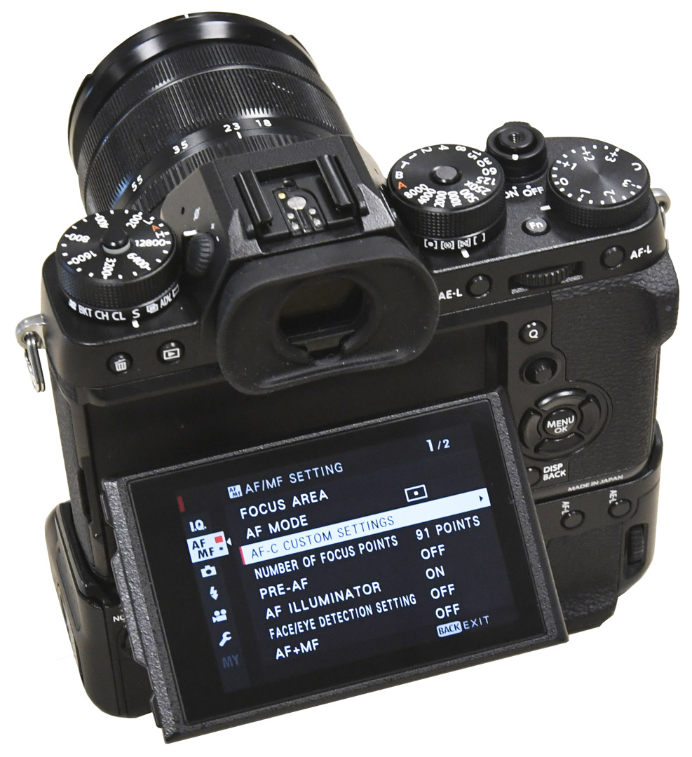 Fujifilm X-T2 display Cyfrovychok