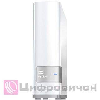 "Western Digital My Cloud 3.5"", 8Tb (WDBCTL0080HWT) LAN White"