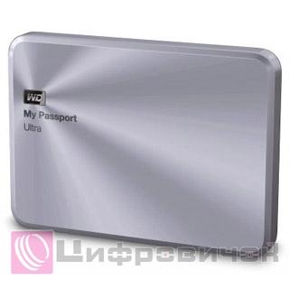 "Western Digital My Passport Ultra Metal 2.5"", 2Tb (WDBEZW0020BSL) Silver"