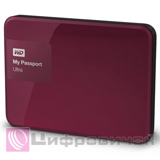 "Western Digital My Passport Ultra Metal 2.5"", 3Tb (WDBBKD0030BBY) Wild Berry"
