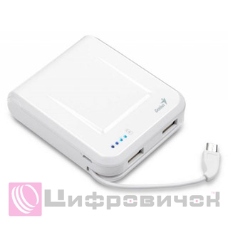 Power Bank Genius ECO-U700 7800 mAh White