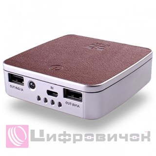 Power Bank Drobak Lux Power-7800 Brown