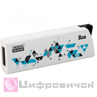 GoodRAM Click USB 2.0 8GB (UCL2-0080W0R11) White