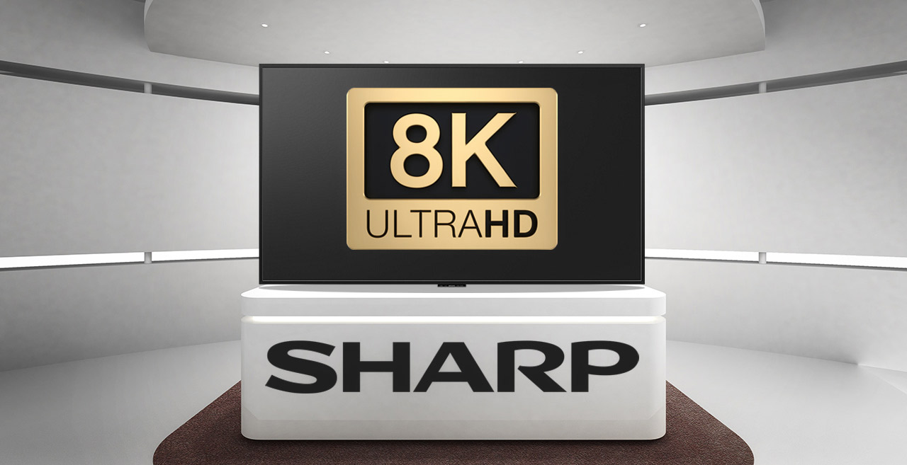 sharp 8K TV cyfrovychok