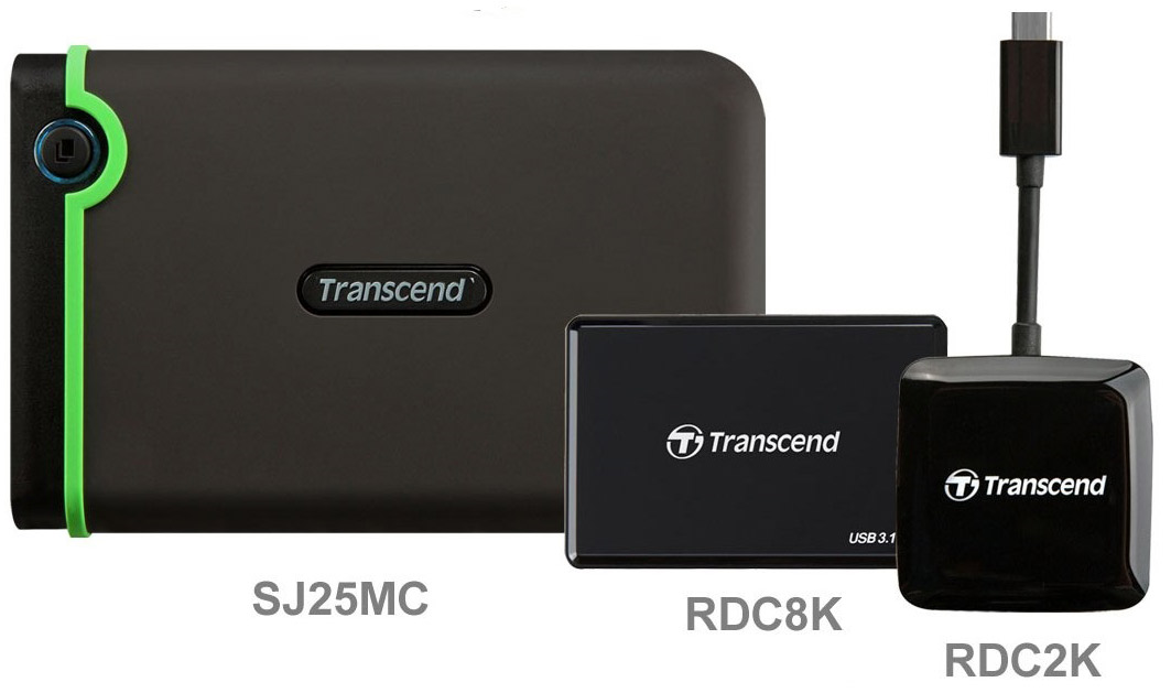 USB HDD Transcend Type-C carc-reader