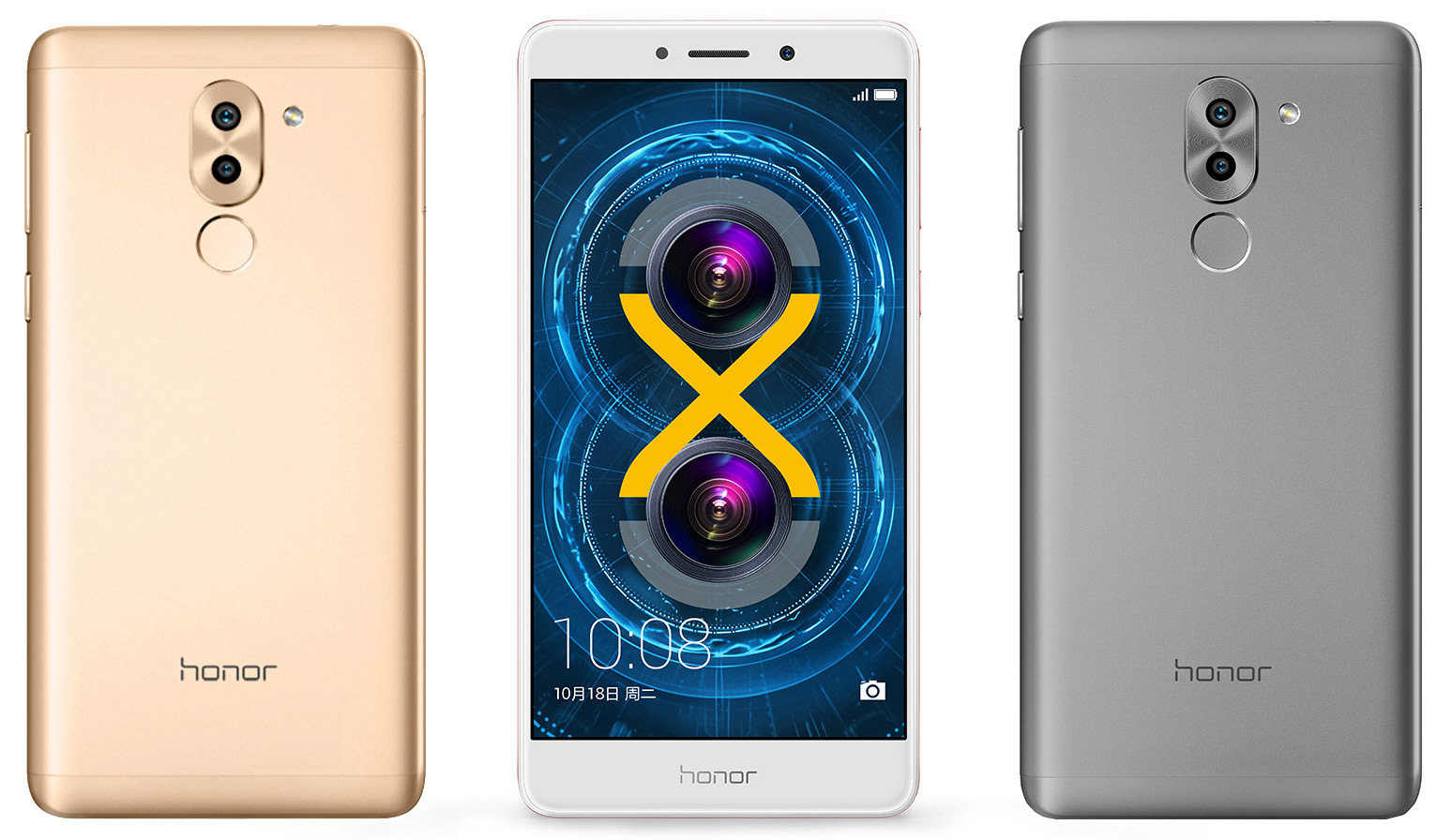 Huawei Honor 6x white gold