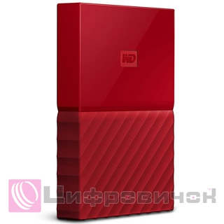"Western Digital My Passport 2.5"" 2Tb (WDBYFT0020BRD-WESN) External Red"