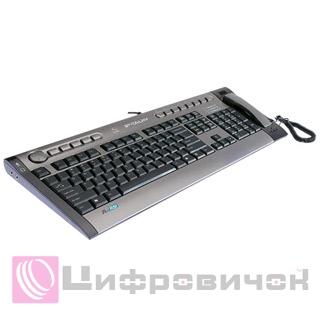 Клавіатура A4Tech KIP-800-R VoIP Grey-Black