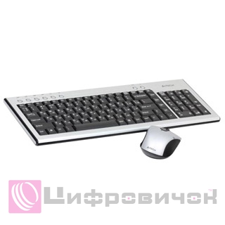 Комплект A4Tech 7500N V-Track Wireless Silver