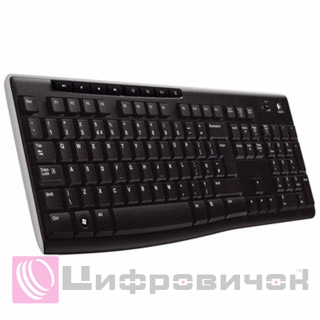 Клавіатура Logitech K270 Wireless (920-003757) Black