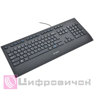 Клавіатура Logitech K280e Corded (920-005215) Black