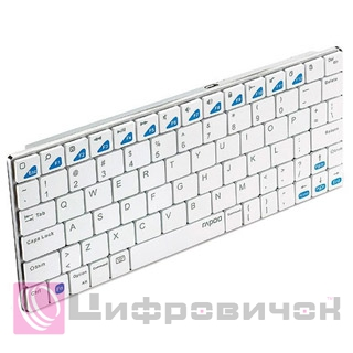 Клавіатура Rapoo E6100 Bluetooth White