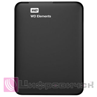 "Western Digital Elements 2.5"", 1Tb (WDBUZG0010BBK) Black"